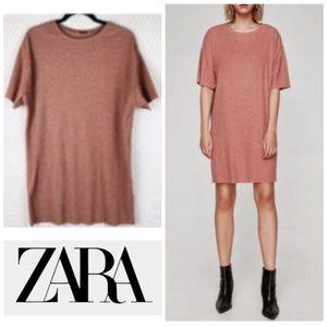 Zara Trafaluc Women Sz S Dress Ribbed T Shirt